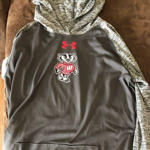 Under armour Wisconsin badgers hooded long sleeve